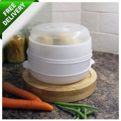 Microwave Steamer Vegetable Cooker Healthy Steamer Pot