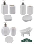 La Porcellana Bianca Bathroom Sets, Soap Dish, Dispenser & Toothbrush Holder