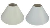 New 41cm Coolie Lamp Shade White Cream