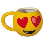 Loveheart Eyes Emoticon Ceramic Mug Emoji Face Drinks Coffee Tea Novelty Design