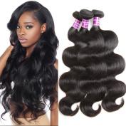 "ZSF Hair Grade 7A Brazilian Virgin Hair Body Wave 4 Bundles 100% Unprocessed Virgin Human Hair Weave Extensions Natural Colour 16""16""18""18"""