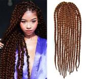 Medium Aubrn Colour Crochet Braid Hair Extensions, Hair Braids Havana Mambo Twist Style Cuban Twist UFUF551