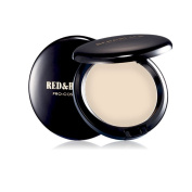 Red & Black Full Coverage Cream Compact Foundation Flawless Makeup Face Foundation,Waterproof and Long Wearing 20ml, Light Natural