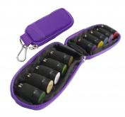 LOUISE MAELYS 10 Holes Keychain Essential Oils Carrying Case Travel Oil Carry Organiser Bag for Roller Bottles 1ml / 2ml / 3ml