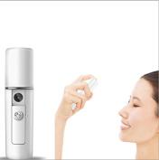 ELINKMALL USB Rechargeable Nano Facial Steamer Mini Handy Nano Face Sprayer Portable Moisturising Atomization Beauty Device