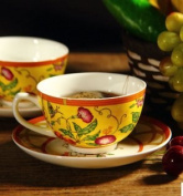 YNBS Ceramic coffee cup set dishes spoons English afternoon tea, tea cup bone China,1
