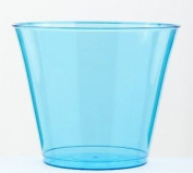 Mozaik 10 Turquoise Blue Plastic Dessert Cups 230ml