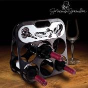 Summum Sommelier Folding Wine Bottle Rack Plus Home Bar Corkscrew Accessories