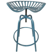 Esschert Design Tractor Bar Seat Chair Stool Blue Ih034 Cast Iron Steel Garden