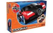 J6020 Airfix - Quick Build Bugatti Veyron Black & Red
