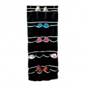 New 20 Pocket Hanging Over Door Shoe Organiser Storage Rack Black Colour
