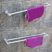 Aluminium Double Single Towel Rail Holder Wall Mounted Bathroom Rack Shelf Chrome
