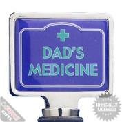 Wine Stopper Dad's Medicine. Retro Funky Novelty Wine Bottle Cork