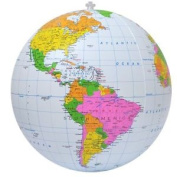 Jet Creations Inflatable Political Globe, 41cm