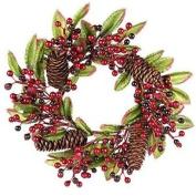 Christmas / Winter Deluxe Wreath - 25cm Festive Berries & Pinecones