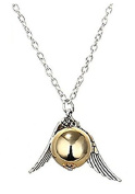 Necklace Golden Snitch Snitch Gold With Golden Wings And Pearl And Silver Necklace
