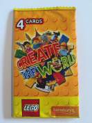 20 Lego Create the World Cards - 5 packs of 4 - Yellow Pack for Sainsbury's collectors album