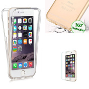 For iPhone 7 Plus Case [360 Degree Protective] Transparent Fit Unique Slim Strong All Round Protection Front and Back Full Body Two Piece Soft TPU Silicone Gel Case Cover for iPhone 7 Plus- Transparent