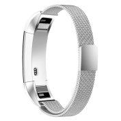 Fitbit Alta and Fitbit Alta HR Bands, Simpeak Stainless Steel Strap Band for Fitbit Alta & Fitbit Alta HR, Silver