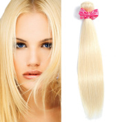 #613 Blonde Straight Virgin Hair 1 Bundle Honey Blonde Brazilian Straight Hair 100% Human Remy Hair Extensions