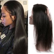 UR Meili Brazilian Straight Hair 360 Lace Frontal Band Remy Hair Full Lace Frontal Closure New Style Natural Hairline 30cm