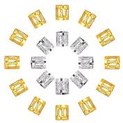 Goege Mixed Dread Lock Dreadlocks Beads Metal Cuffs Hair Decoration Filigree Tube,50Pcs