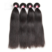 Beauty Princess Malaysian Straight Hair 4 Bundles 8A Grade Remy Human Hair Weave Bundles Skilly Straight Hair 20cm - 70cm Natural Black Colour