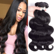 8A Grade Brazilian Body Wave Virgin Hair 4 Bundles 400g Natural Colour Unprocessed Remy Human Hair Extensions Mixed Length Brazilian Body Wave Bundles Thick End
