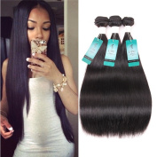 Brazilian Straight Hair 3 Bundles, UDU Virgin Human Hair Straight Weave Bundles Soft Texture, 100% Virgin Unprocessed Hair Natural Colour Weft