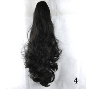Danlier Long Ombre Claw Ponytail Hair Extension Curly Hairpiece Jaw Clip Hair Extensions Clip in 4