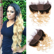 Tony Beauty Hair T1B/613 Ombre Silk Base 13x 4 Ear to Ear Lace Frontal Closure With Baby Hair 20cm - 60cm Body Wave Blonde Ombre Human Hair Silk Top Full Lace Closure