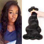 CCOLLEGE Hair 8A Grade 360 Lace Frontal With Bundles 3 Bundles Body Wave Hair Brazilian Virgin Human Hair Natural Colour