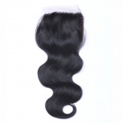 MeiRun Body Wave With Closure 4X4 Hair With Closure Bleached Knots Closure Human Hair 7A Grade Natural Black