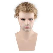 SinoArt Men's Wig 100% Human Hair Hairpiece Toupee Super Thin Skin Hair Replacement