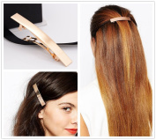 FASCHI 1Pc Gold Silver Metal Hairpin Hairgrip, Starfish Maple Tree LEAF Bird Feather Curved ARC Tube Hair Clip Geometric Barrette Bobby Pin Ponytail Holder Styling Jewellery
