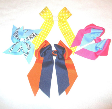 Large Hair Bow Variety, Made in the USA, am28