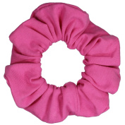 Pink Cotton Jersey Scrunchies Large Jumbo Ponytail Holders Scrunchie King Made in the USA