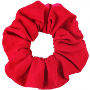 Red Cotton Jersey Scrunchies Large Jumbo Ponytail Holders Scrunchie King Made in the USA