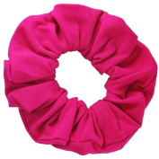 Fuchsia Cotton Jersey Scrunchies Large Jumbo Ponytail Holders Scrunchie King Made in the USA