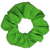 Lime Cotton Jersey Scrunchies Large Jumbo Ponytail Holders Scrunchie King Made in the USA