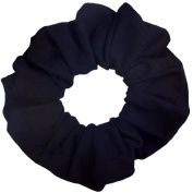 Black Cotton Jersey Scrunchies Large Jumbo Ponytail Holders Scrunchie King Made in the USA