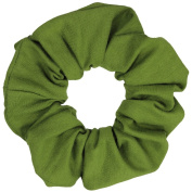 Olive Cotton Jersey Scrunchies Large Jumbo Ponytail Holders Scrunchie King Made in the USA