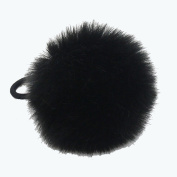 Susulu 12pack Soft Ball Faux Rabbit fur 7-8cm Pom Pom Hair Scrunchies Elastic Ponytail Holder For Women