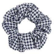 Susulu 6pcs Houndstooth Pattern Fabric Hair Scrunchie Hair Tie Ponytail Holder