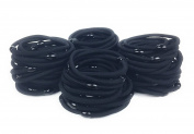 Syleia 100 Classic Round Hair Ties Elastics 4mm Thick No Damage No Metal Superior Hold for All Hair Types Durable Strong