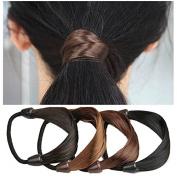 Garrelett Synthetic Hairbands Elastic Stretch Hairpiece Braided Headband Ponytail Holders for Girls Women Ladies
