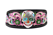 Sugar Skull Embroidered Women Headband Stretch, Hair Accessories, Hair Jewellery