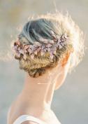 FXmimior Rhinestone Crystal Bridal Headpiece Headband Bridal Wedding Hair Accessories for Women and Girl