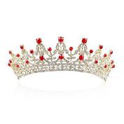 Yilanair Women Bridal Rhinestone Crystal Headband Crown Tiara for Wedding