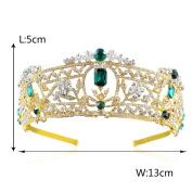 Yilanair Bridal Rhinestone Gold Crown Crystal Headband Tiara for Wedding